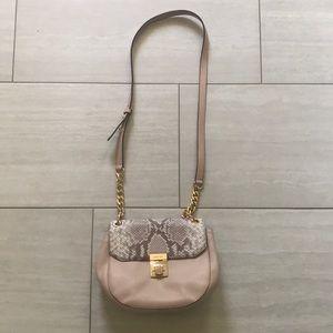Michael Kors Pink/Snake Print Crossbody Bag